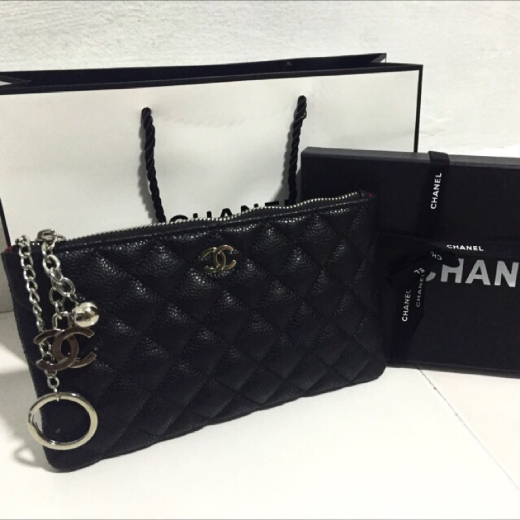 912e7ef36c753b Bigger size! Authentic Chanel VIP gift pouch | Shopee Singapore
