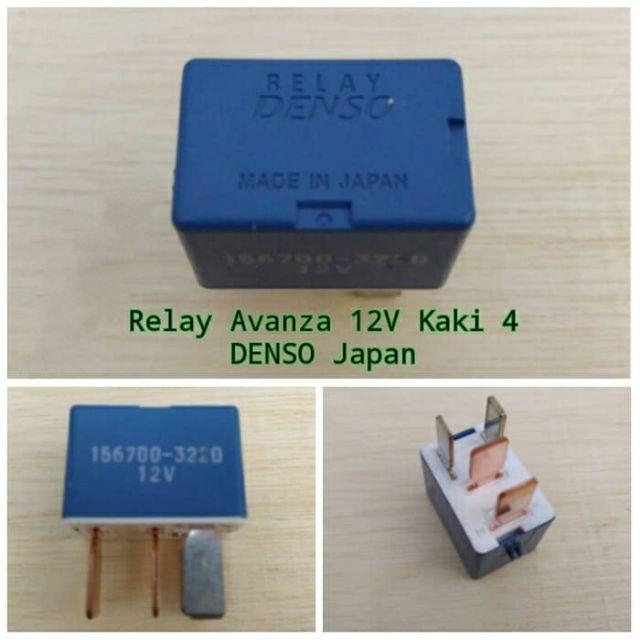 Original Denso 4pin Lamp Relay   Power Relay 12v  Made In