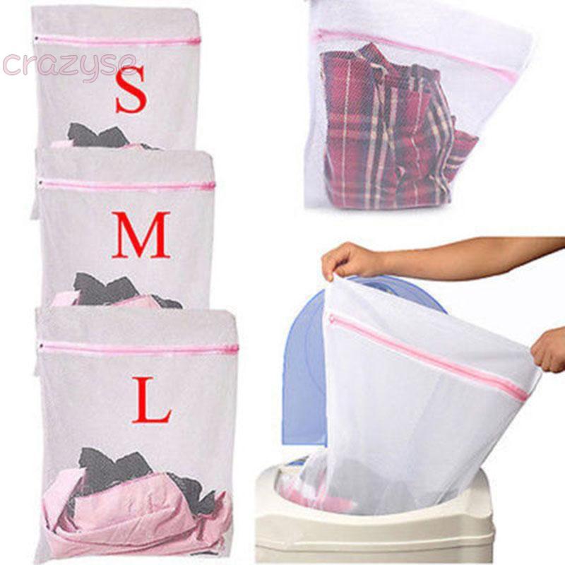 Clothes Bag Laundry Bra Tights Underwear Delicate Mesh Wash White Home Garden