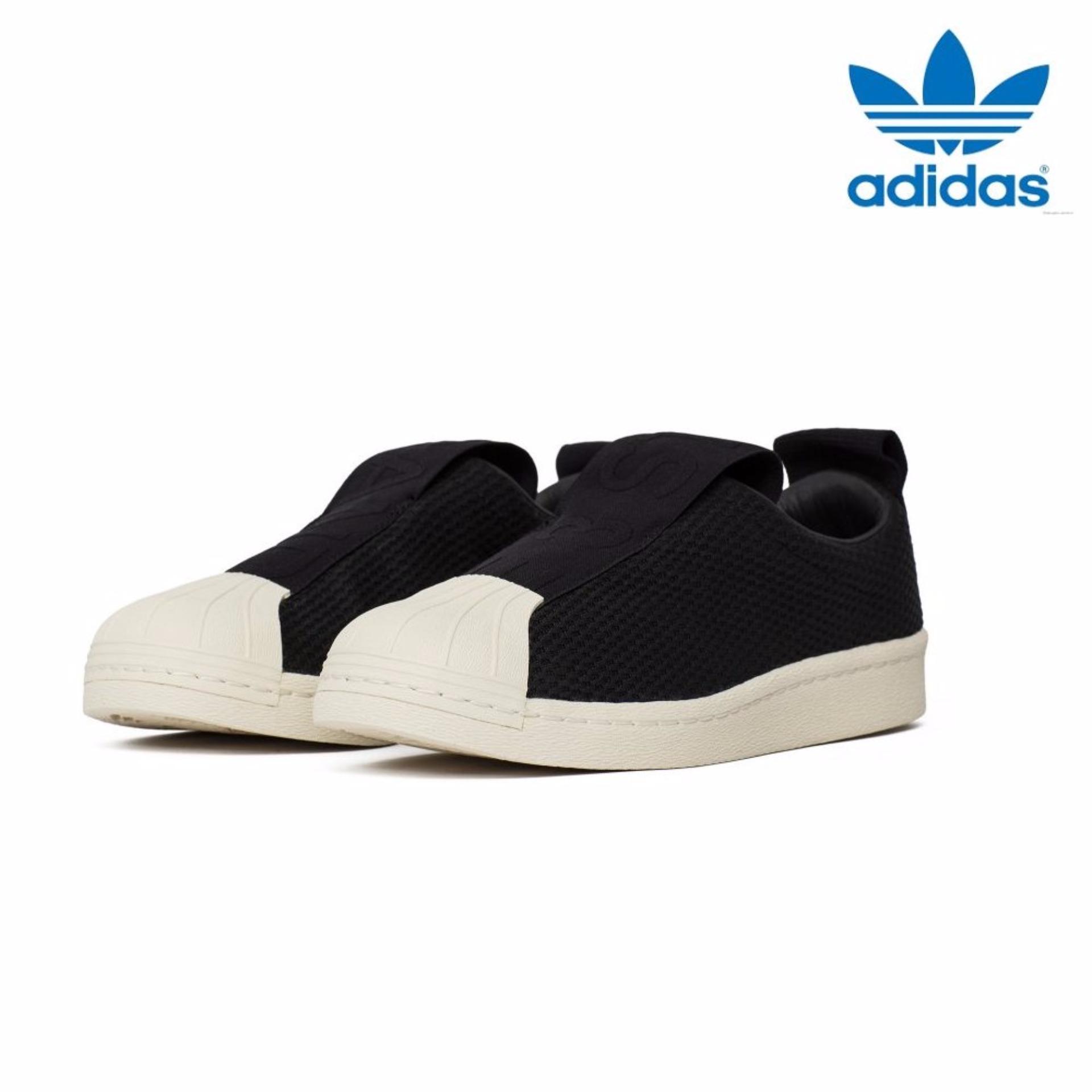 A bordo Finito pimienta  Adidas New Originals Superstar BW3S Slip-On Shoes BY9137 Core Black - intl  | Shopee Singapore