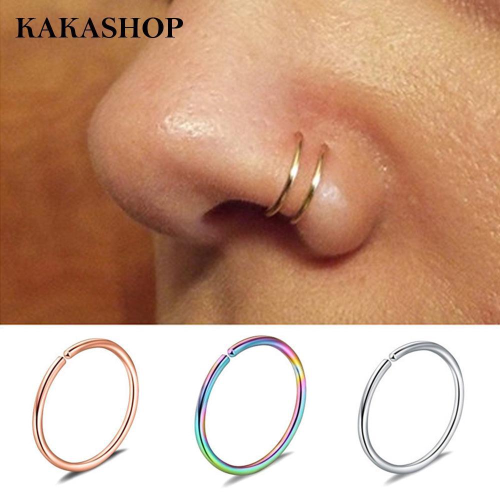 Nose Ring For Men Stainless Steel Lip Rings Fake Piercing Fashion