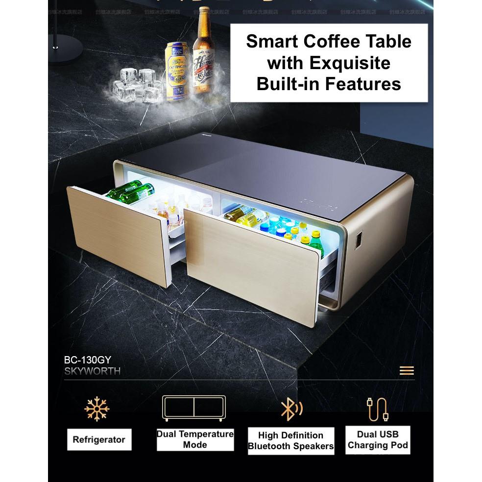 Smart Coffee Table Refrigerator Bluetooth Speakers LED ...