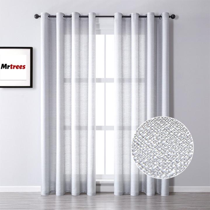 Mrtrees 1pc Nordic Minimalism Semi, Shimmer Curtain Panels