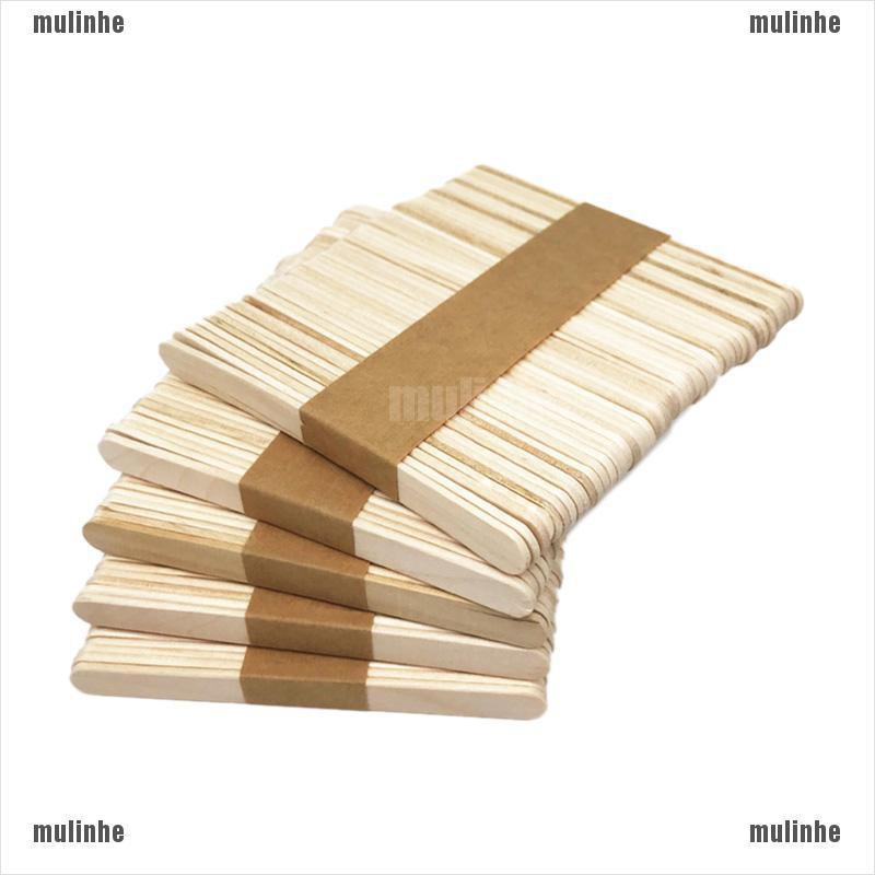 50pcs//set Ice Cream Stick Cake DIY Craft Wood Wooden Popsicle Stick Timber Stick