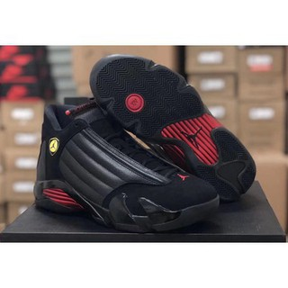 new products a5ce6 254f2 Nike Air Jordan 14 AJ14 Black red Last shot Basketball shoes