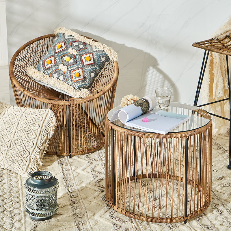 Ready Stock ๑extremely Brief Recreational Chair Woven Cane Lazy Reading Single Bedroom Furniture In The Living Room Balcony Small Shopee Singapore