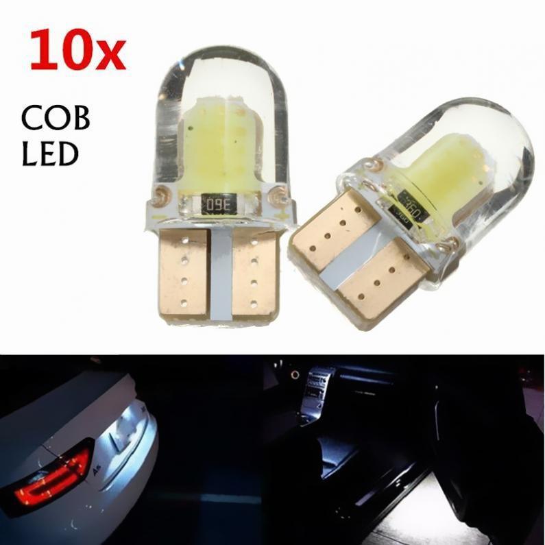 4X Osram T10 W5W 168 2 LED 6500K Car interior Reading Light 12V DC White Lamp TK