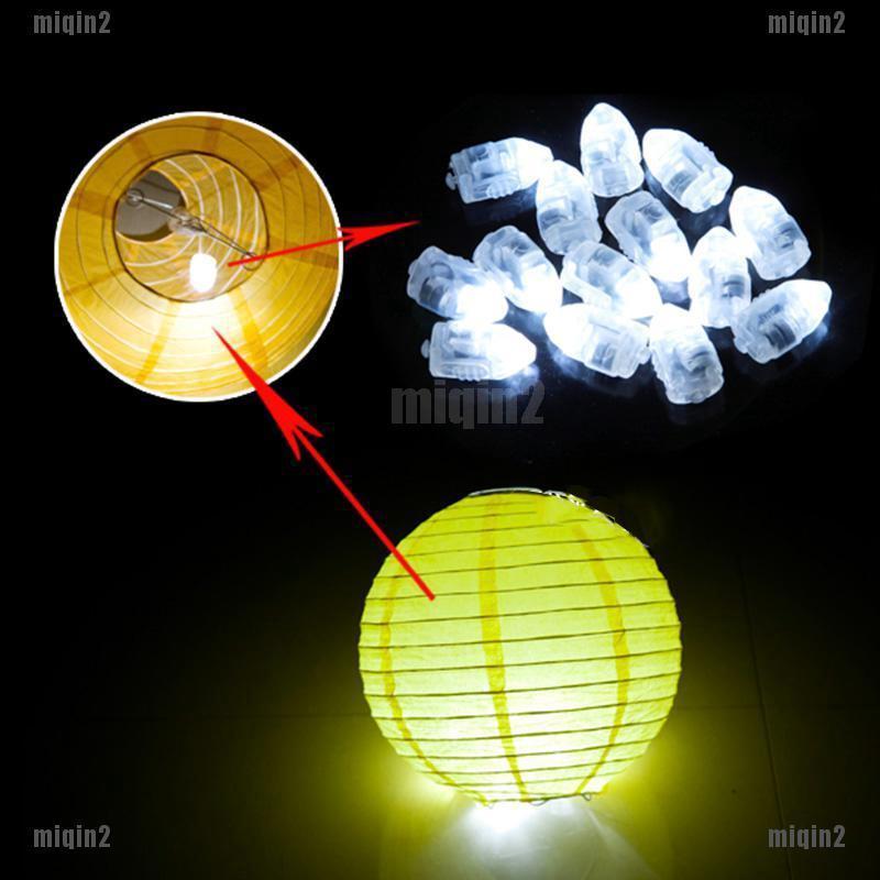 20//50//100pcs LED Balloon Lamp Paper Lantern For Home Wedding Party Decor Light