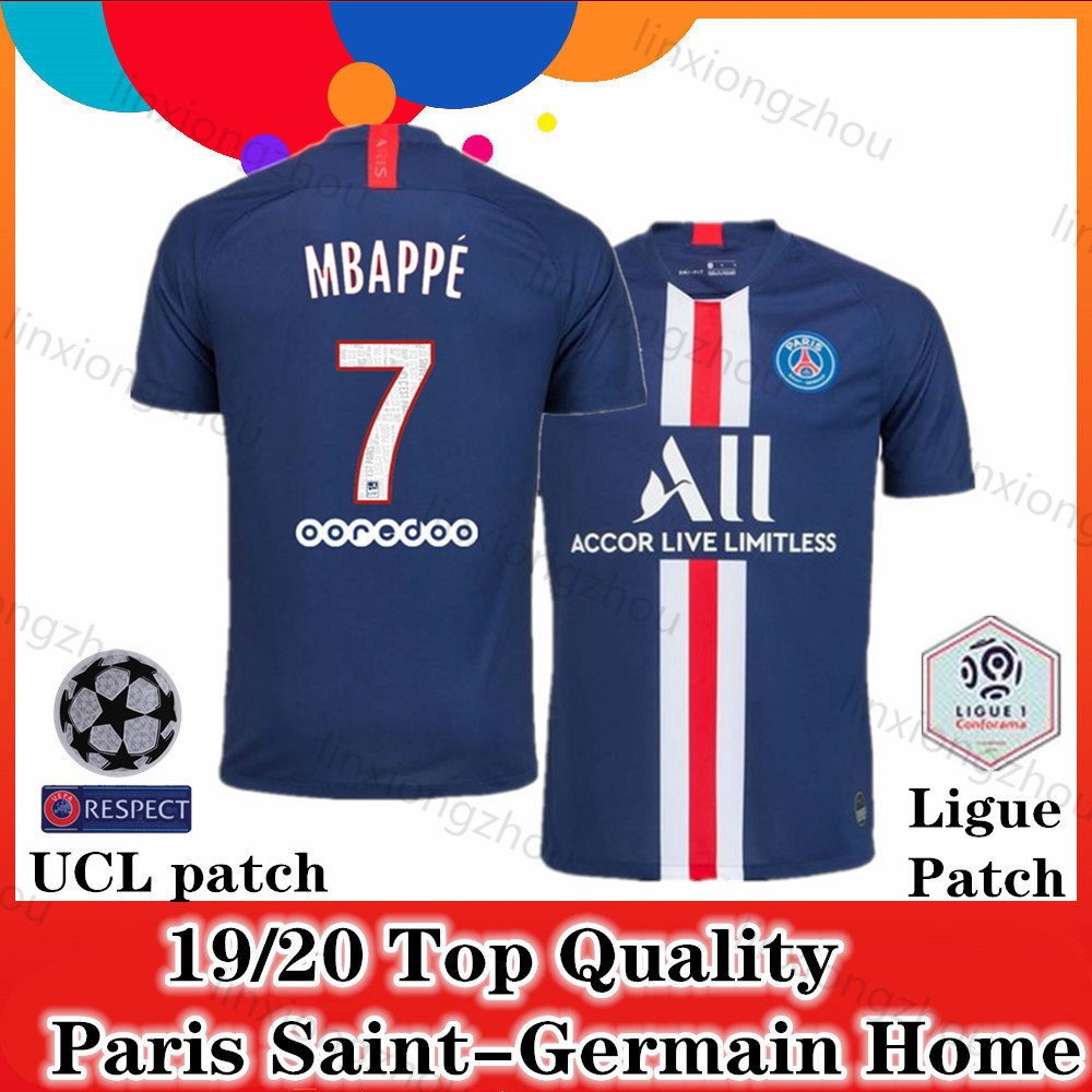 new arrival 3a925 44077 Top Quality 19/20 and 18/19 Paris Saint-Germain Home Soccer Jersey Football  Jersey