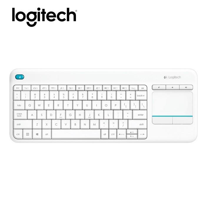 Logitech K400 Plus Wireless Touch Keyboard - White (920-007166)