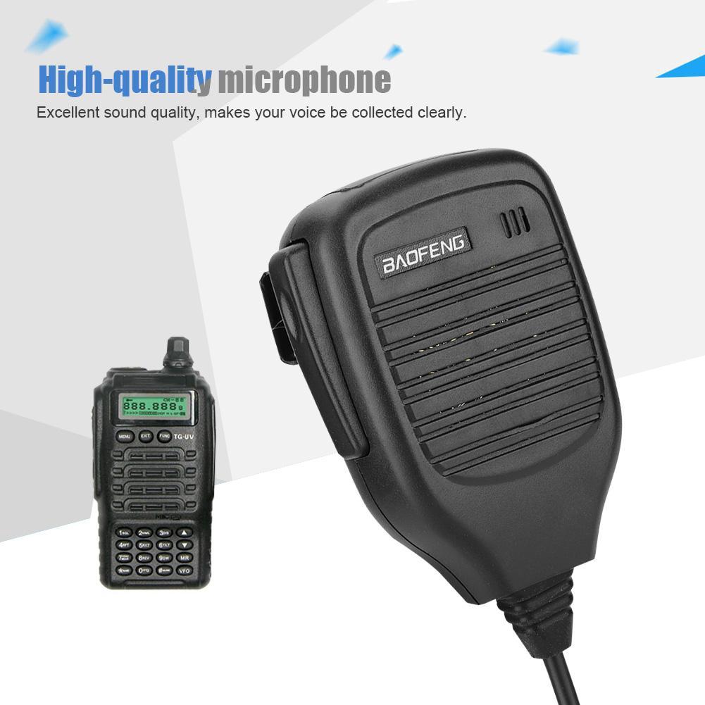 Two Way Radio Speaker-mic Microphone for BAOFENG LINTON KENWOOD Radio KMC-21