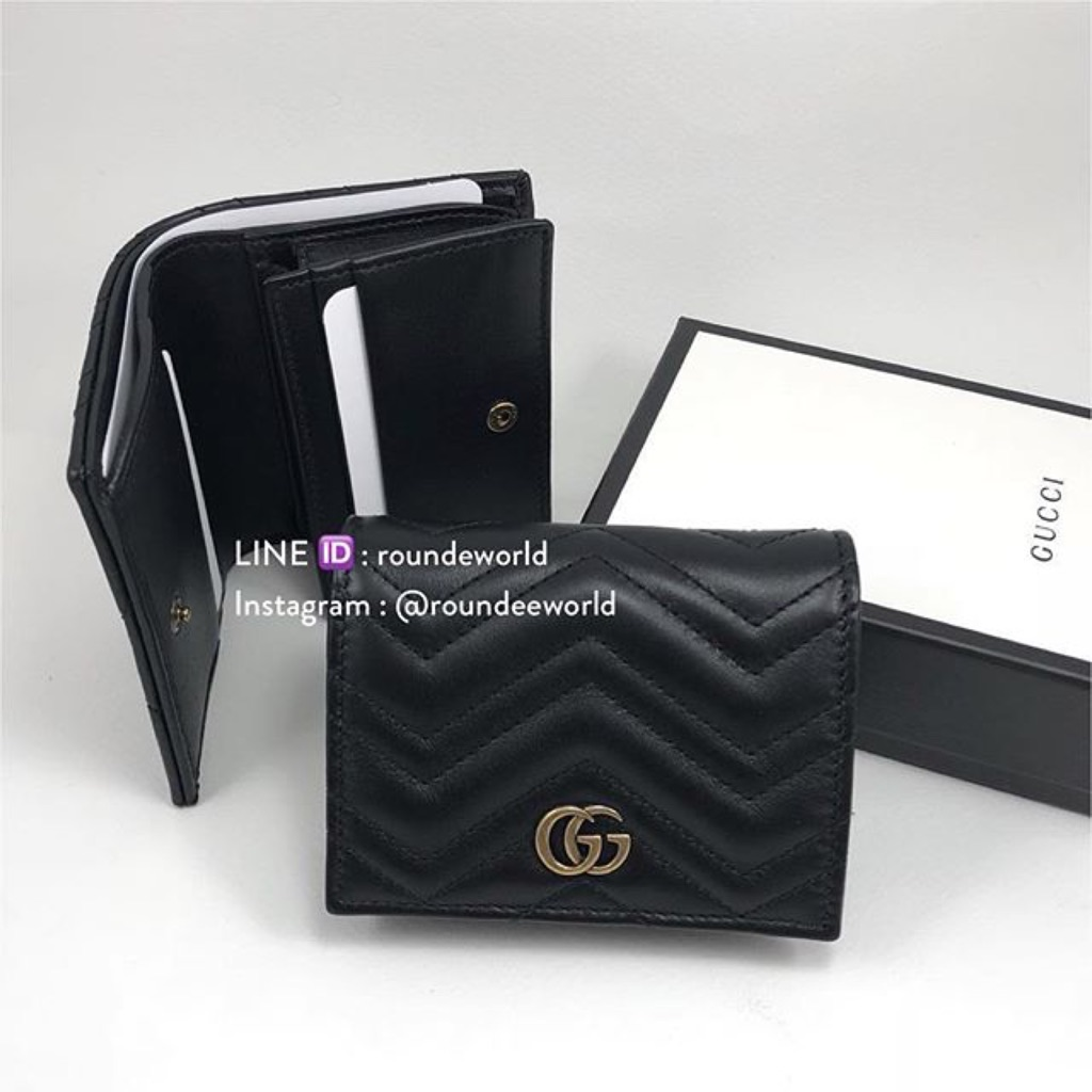 645af7781df5 NEW!* Gucci Marmont Card Case - Black | Shopee Singapore