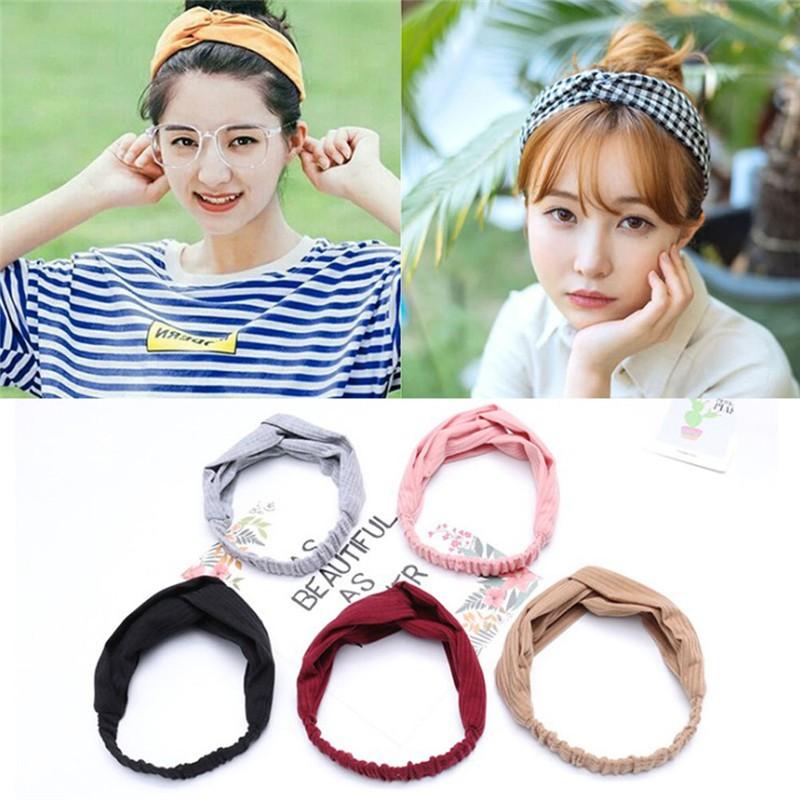 Women's Hair Accessories Korean Fresh Style Women Girls Iron Wired Twist Hairband Rabbit Ears Bowknot Headband Vintage Polka Dot Turban Headwrap 6 Color Excellent In Cushion Effect