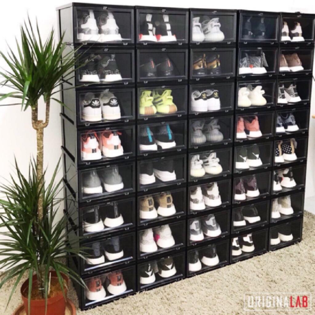 Originalab Shoe Front Drop Storage Display Box Black