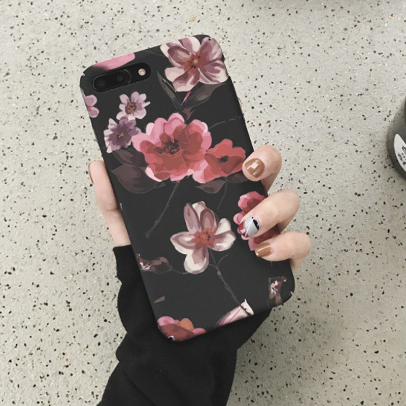 44636bebde7 Flowers Phone Cases For iPhone 8 7 6 6s Plus Rose Flower Florals PC Cover