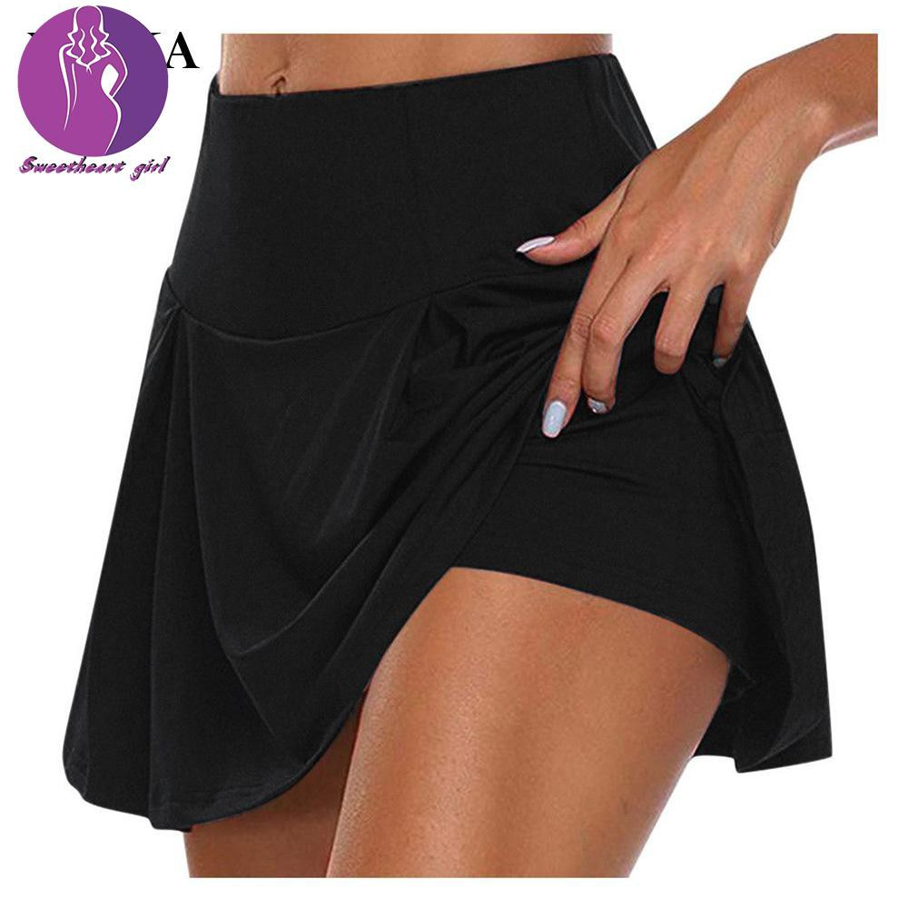 Spot hot sale]weka Women's Athletic Golf Skorts Solid Color Lightweight  Active Athletic For Tennis Golf Running Workout   Shopee Singapore