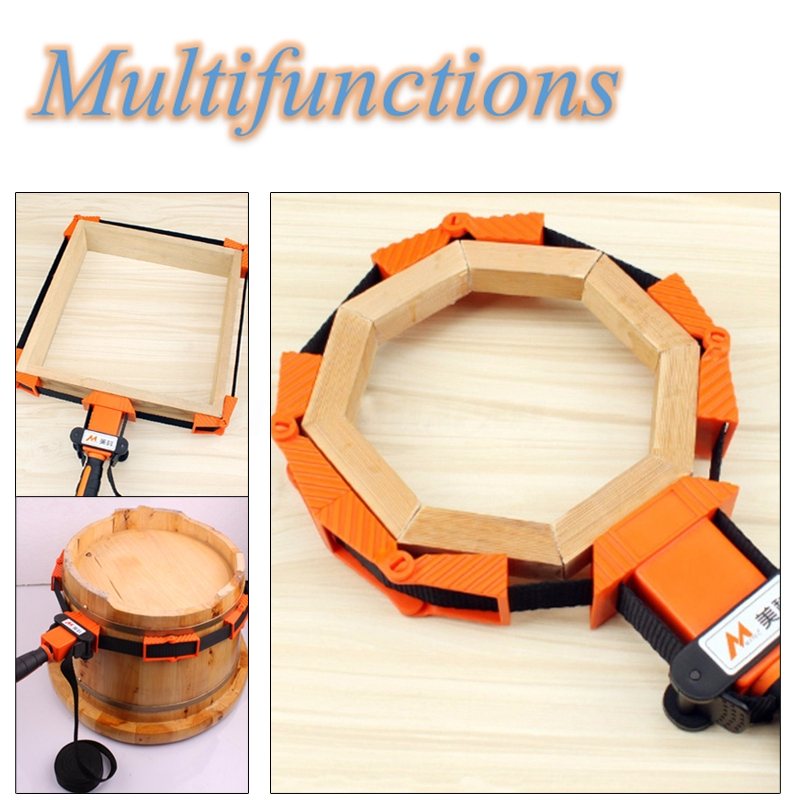 Picture Frame Woodworking Band Strap Clamps Ratchet Corner Miter Clips Nylon+TPR