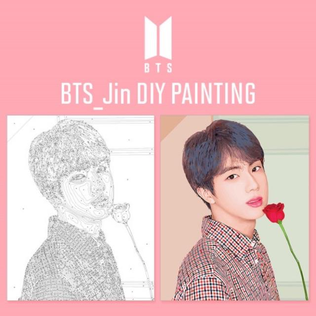 Bts Last Stock Diy Painting Set Included Eng Guide Shopee