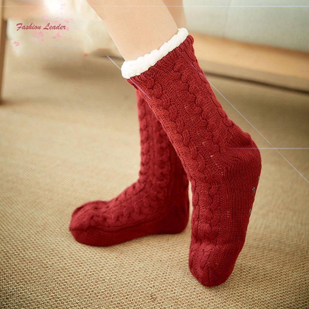 Slipper Socks,Knit with Fur ABS very warm Anti slip Super Soft unisex