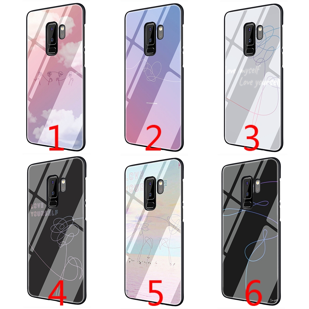 Bts Love Yourself Flower Tempered Glass Phone Case For Samsung S7