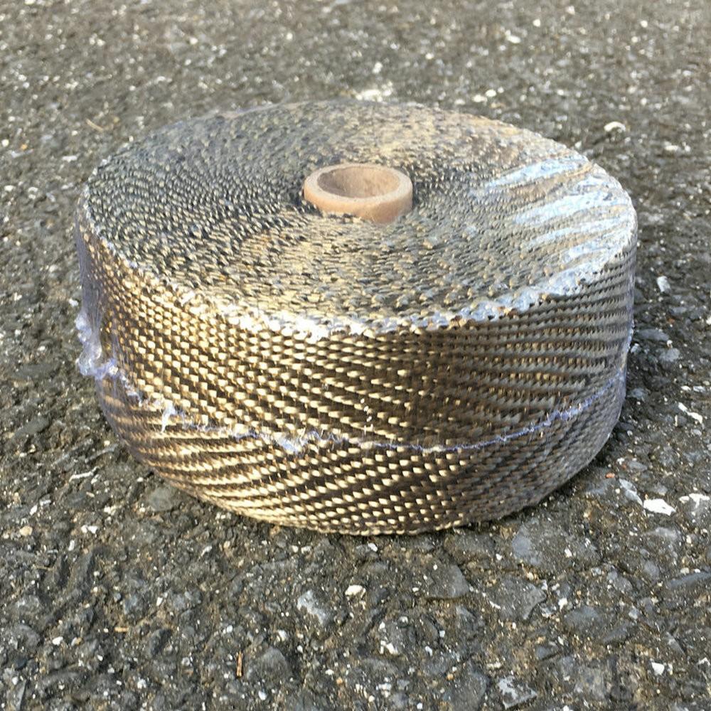 "Titanium Exhaust//Header Heat Wrap 1/"" x 50/' Roll"