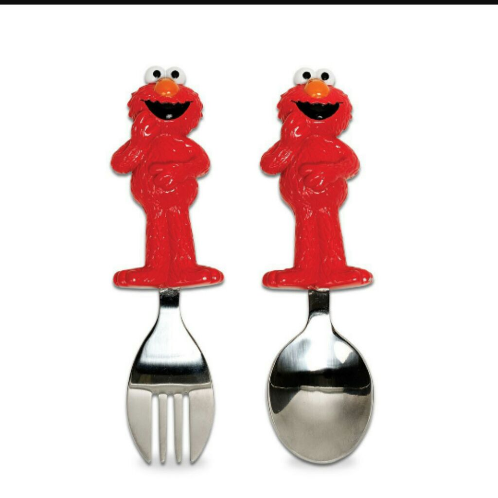 Munchkin Elmo Fork Spoon Set Shopee Singapore Sponn Cat Kuku