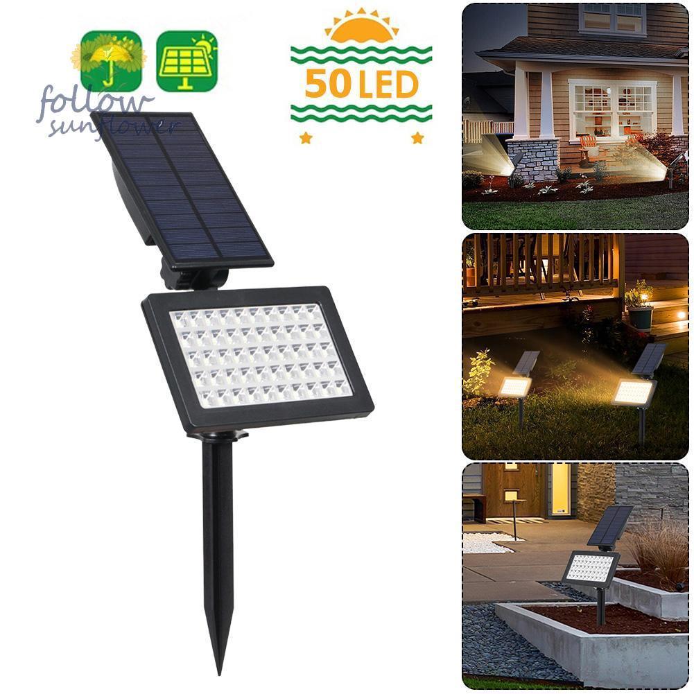 50 Led Solar Light Outdoor Garden Lawn Ground Lamp