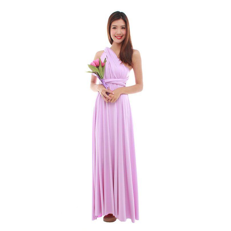 7e49e61b450 Cherie Convertible Classic Dress in Dusty Pink