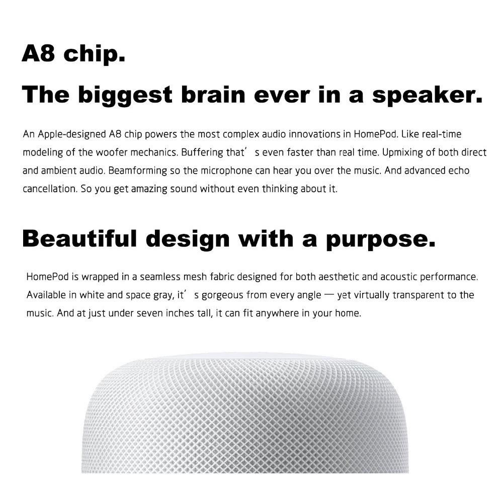 Apple HomePod Smart speaker support Siri 2018 model latest model