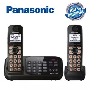 Panasonic Kx Tg4741b Rechargeable 2 Handsets 1 9 Ghz Digital Dect 6 0 Home Landline Telephone Cordless Phones With Answering Machine Shopee Singapore