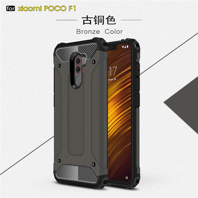 new products 749a0 4fb53 Xiaomi Pocophone F1 Case Anti Shock Impact Hard Armor Cover Cases ...