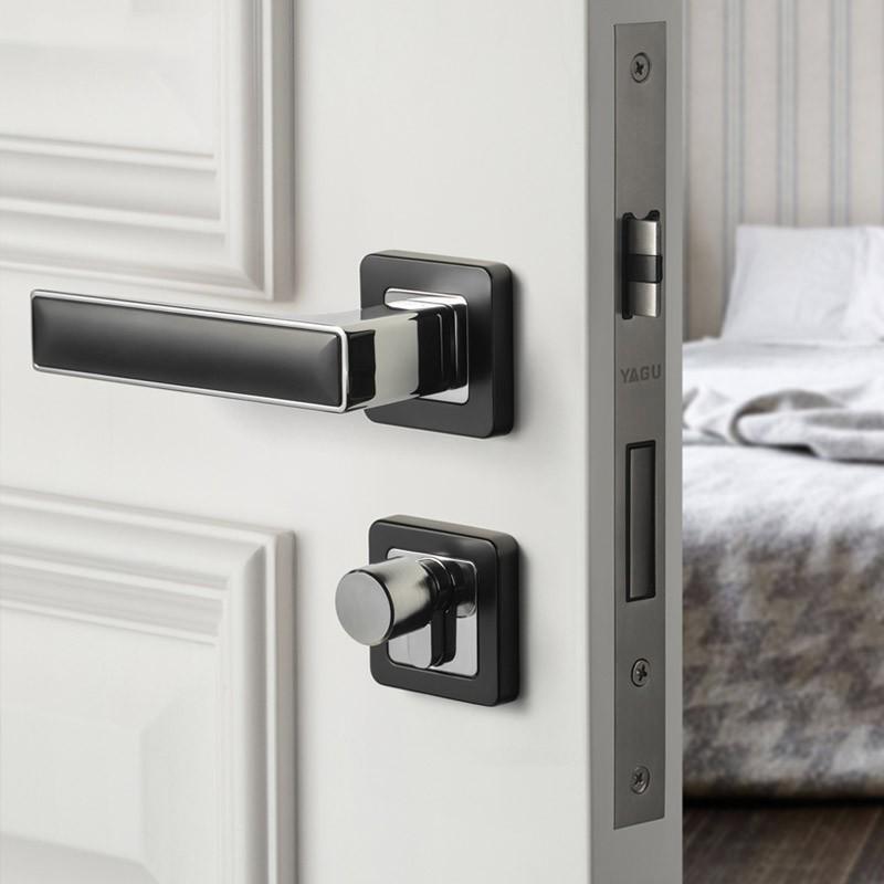 Nordic Indoor Bedroom Door Lock Black Door Handle Home Modern Door Lock Shopee Singapore