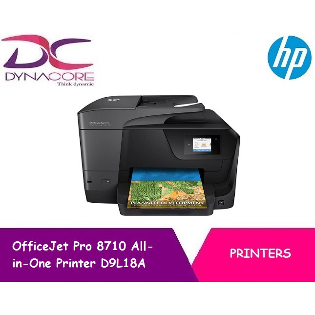 Hp Officejet Pro 8710 All In One Printer D9l18a Shopee Singapore