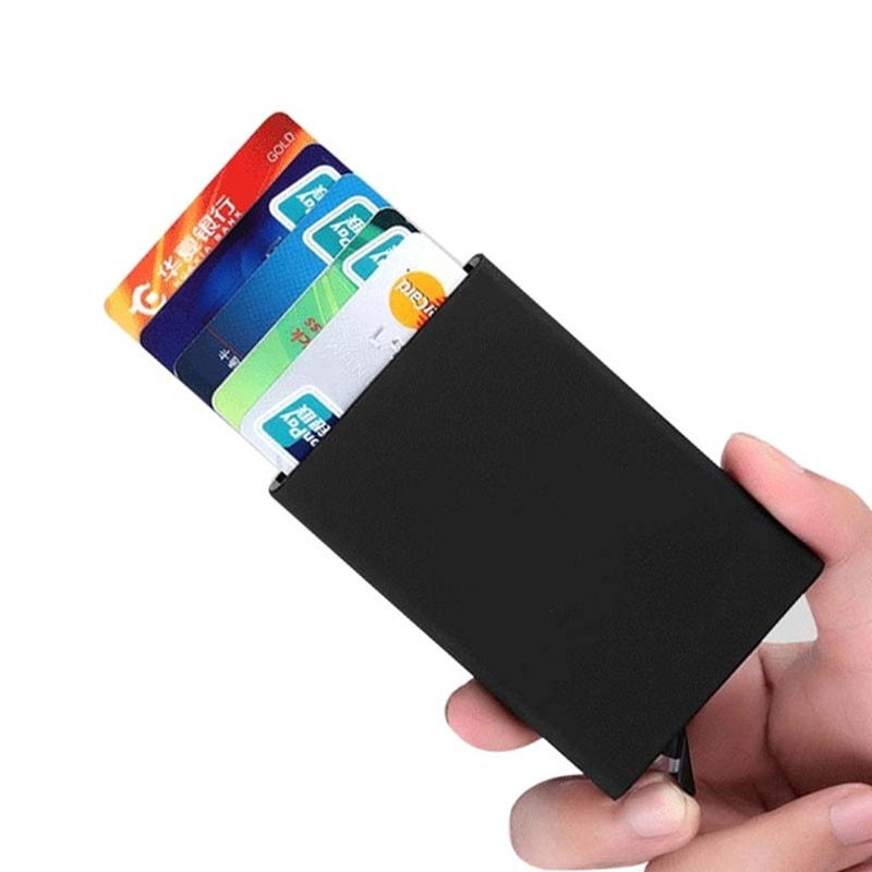 uniego new rfid aluminum card case automatic pop up