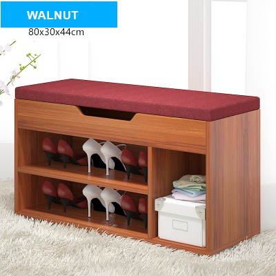 Wooden Shoes Shelves Racks Storage Bench Shoes Sofa Bench