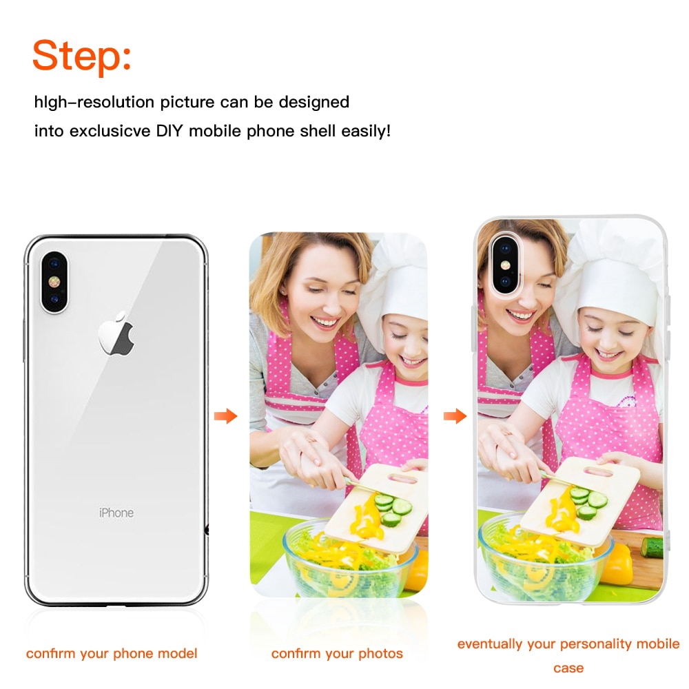 Customized Diy Phone Case Printed Soft Clear Cover Case For