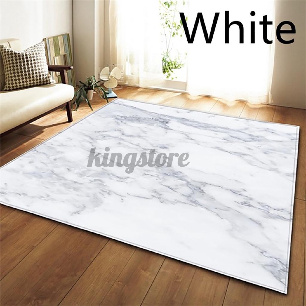 Nordic Europe Rugs White Black Marble Printed Carpets Bedroom Living Room Shopee Singapore