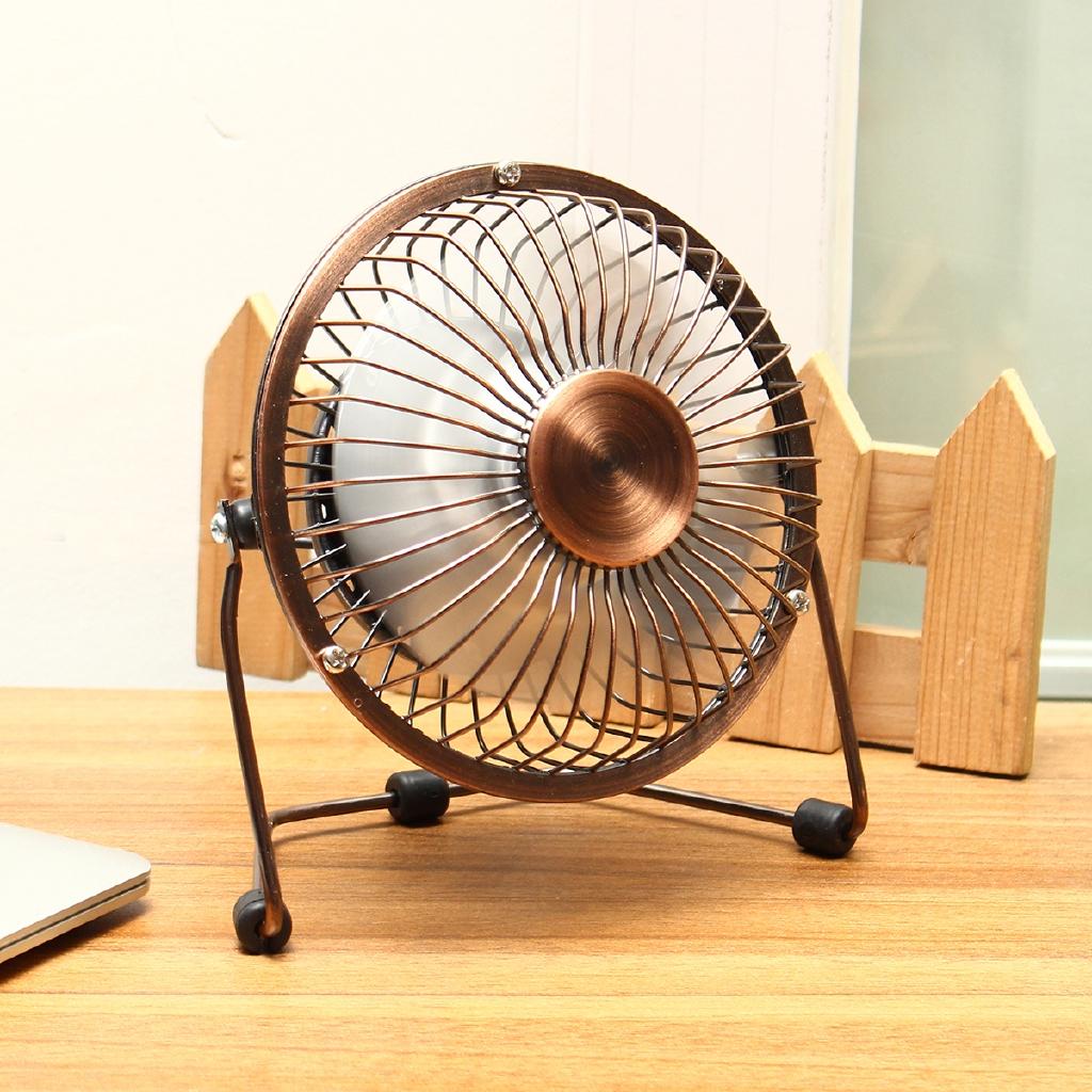Super Mute Mini USB Aluminum Leaves Desk Fan PC Cooler Cooling laptop 4//6 inch
