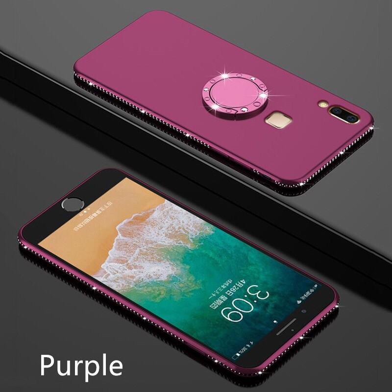 Huawei NOVA Smart/2i/Lite/2/2Plus/2S/3E/3/Nova 3i Diamond Phone Case With Ring