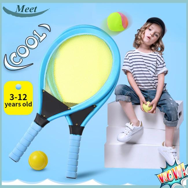 Kids Tennis Racket Set Badminton Tennis Rackets Balls Set Kids Racket Play  Game Toy Set | Shopee Singapore
