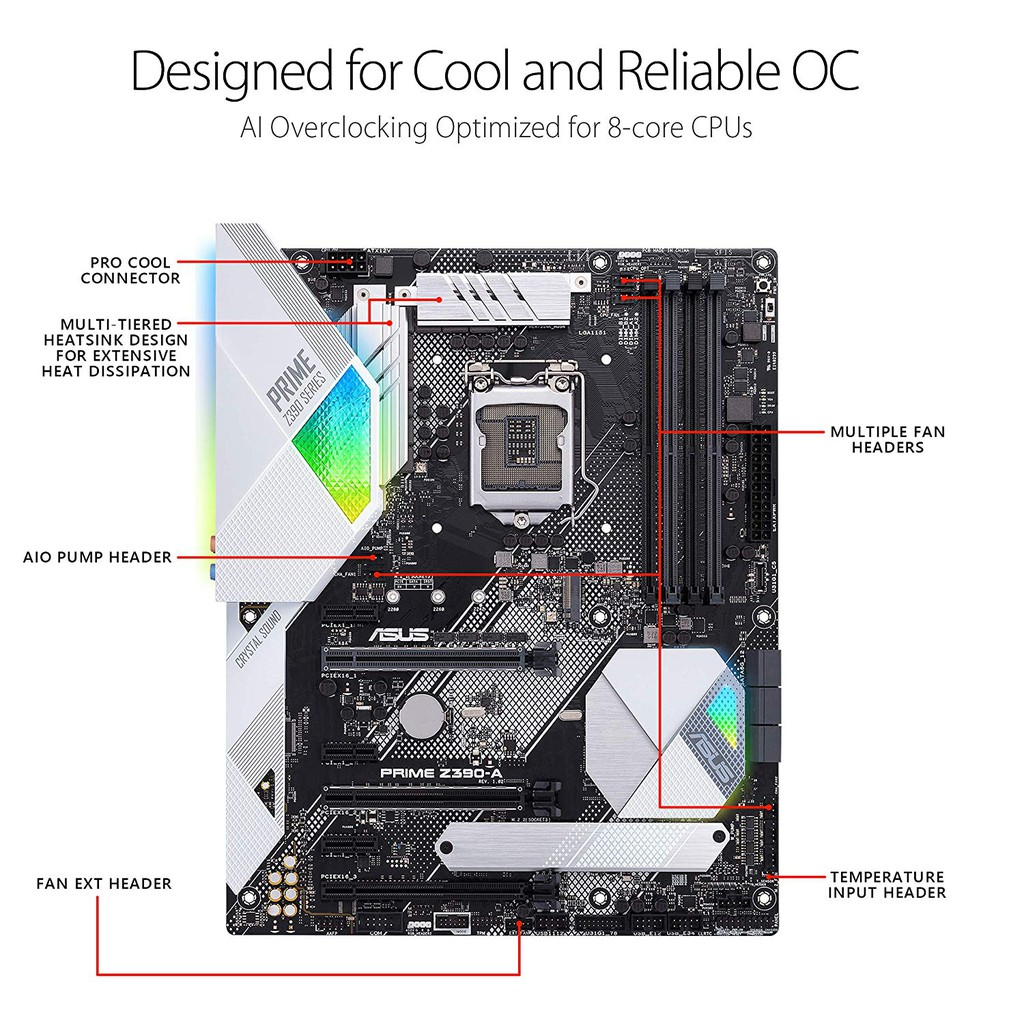 Asus Prime Z390-A motherboard | Shopee Singapore