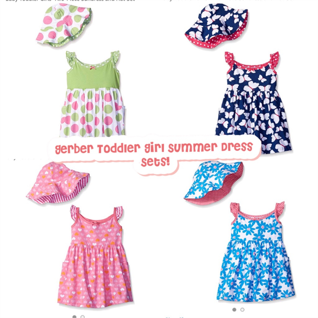 4a44fa60f BN Gerber Toddler Girl Summer Dresses with Reversible Sun Hat! 3-5 years  avail! | Shopee Singapore