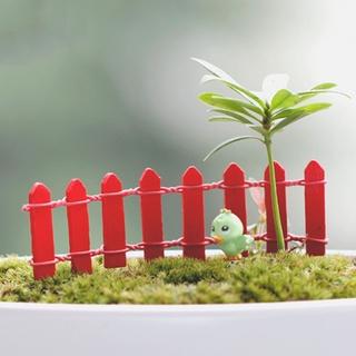 Wood Fence Miniature Garden Landscape Terrarium Figurine ...