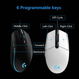 Logitech G102 Wired Gaming Mouse 8000 DPI Color LED Mouse