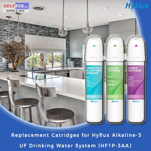 Hyflux/ELO Living Replacement Cartridges for Hyflux Alkaline-3 UF Drinking  Water System HF1P-3AA