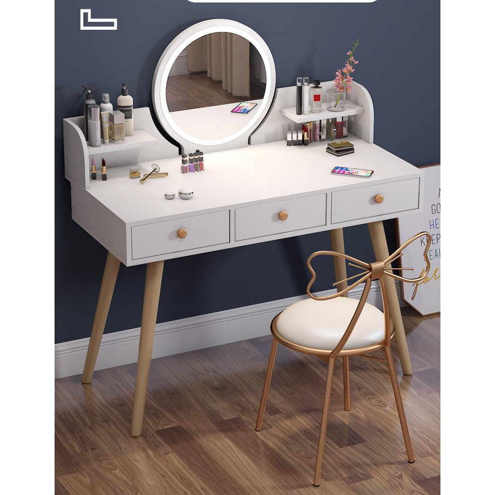 Nordic Dressing Table With Led Light