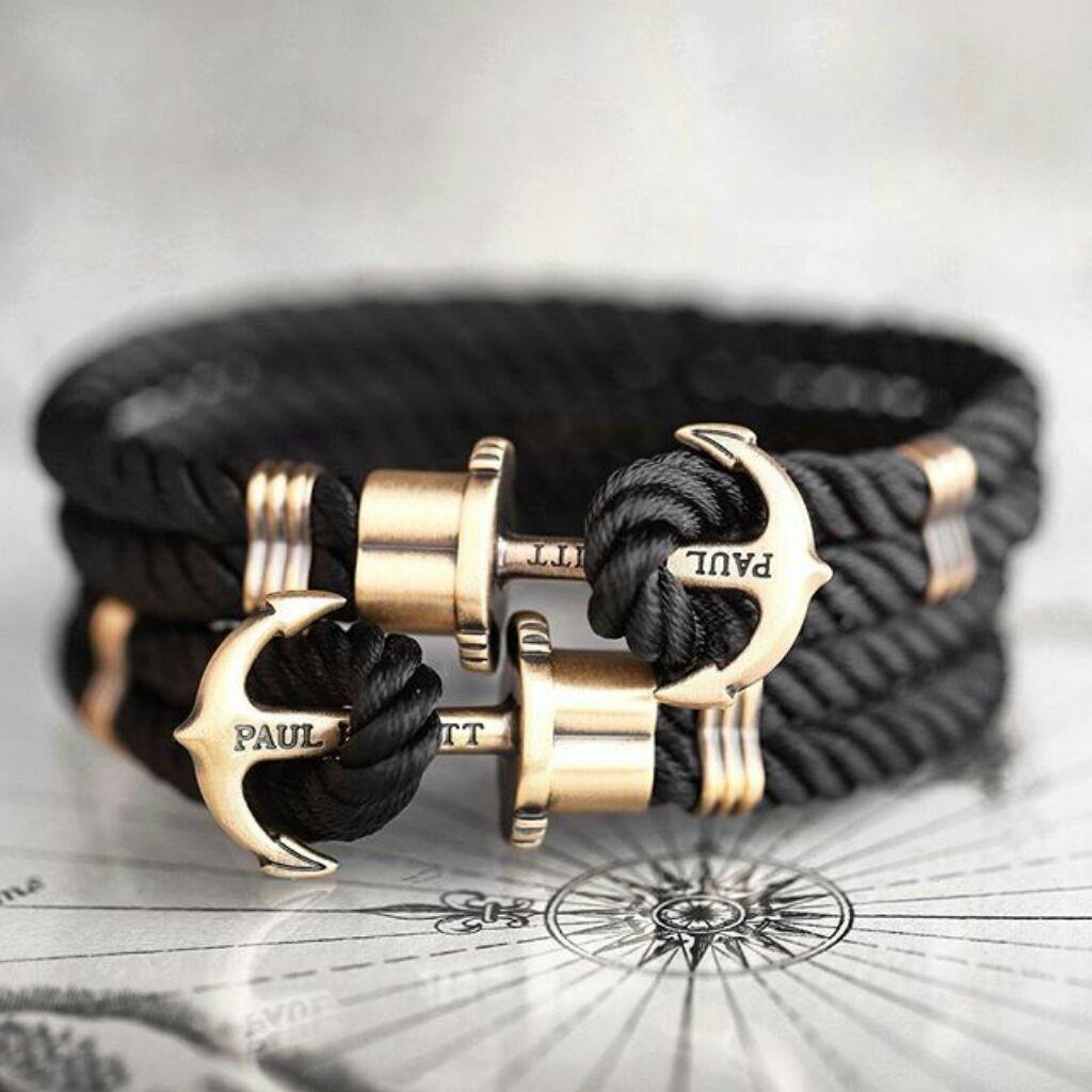 Paul Hewitt Anchor Bracelet Black