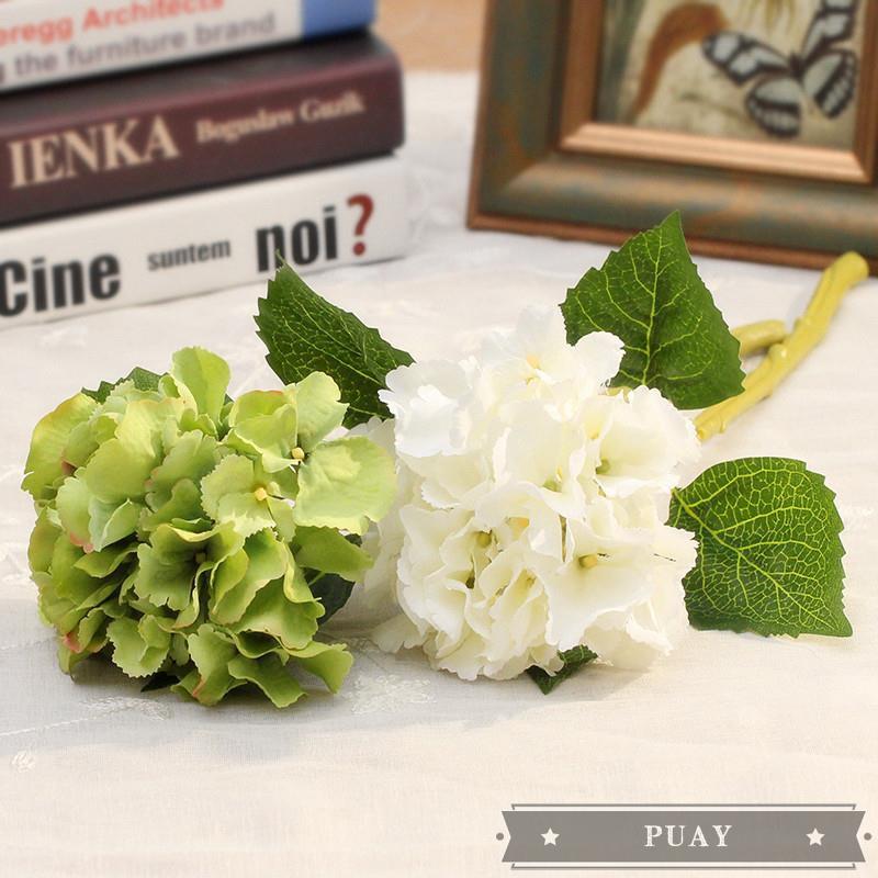 Hydrangea Vase Flower Arrangement Bouquet Living Room Artificial Flower Fake Flower Silk Flower Home Shopee Singapore