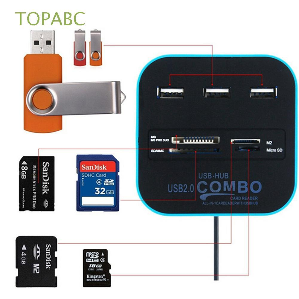 Hot Mini USB SD//MMC Memory Card Reader 480Mbps For Computer Laptop USB Car RAC