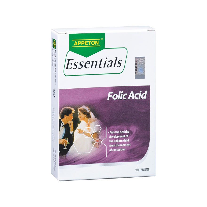 APPETON ESSENTIALS FOLIC ACID 90 TABLETS PREGNANCY/PRE PREGNANCY